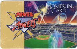 Anaheim Angels Power Angels Program Member Homerun Card Loyalty Baseball Sports1
