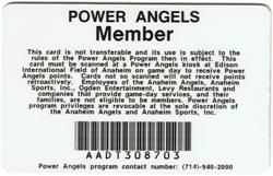Anaheim Angels Power Angels Program Member Homerun Card Loyalty Baseball Sports2