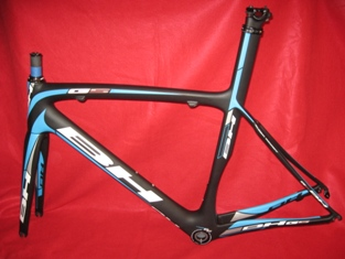 BH G5 Carbon Fiber Bicycle Frameset 2012 56cm MED Black Blue White Frame Fork!2