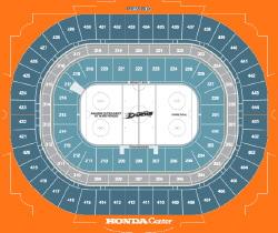 Honda Center - Seating Chart for Anaheim Ducks Hockey Games - Ponda Arrowhead Pond