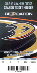 Anaheim Ducks Tickets - 2012-2013 Season