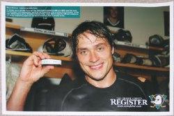 Anaheim Ducks Teemu Selanne 1,000 points poster