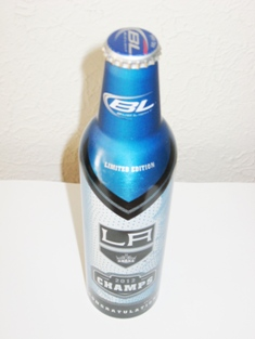 Bud Light LA Kings 2012 Stanley Cup Champs Aluminum Beer Bottle Limited Edition!5