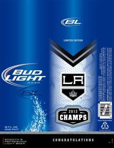 Bud Light LA Kings 2012 Stanley Cup Champs Aluminum Beer Bottle Limited Edition!7