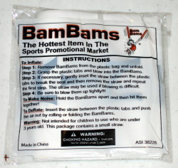 Los Angeles Kings NHL Hockey Crown Logo Inflatable BamBams Thunderstix Cheer Sticks