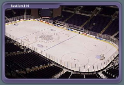 Staples Center - View from Section 314 for L.A. Kings Hockey Games