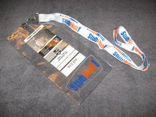 StubHub! Lanyard Clear Plastic Ticket Holder Wallet w White Neck Cord + J Swivel1