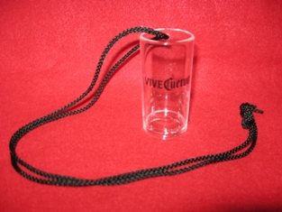 Jose Cuervo Tequila Vive Plastic Shot Glass with Necklace Lanyard Party Animals!1